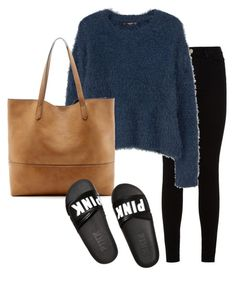 """""""Sem título #13"""" by ananeevees on Polyvore featuring moda, 7 For All Mankind, MANGO, Sole Society e Victoria's Secret"""