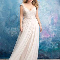 Beaded Chiffon A Line Wedding Dress• Ava's Bridal Couture Affordable Wedding Dresses, Dream Wedding Dresses, Wedding Gowns, Fox Wedding, Affordable Bridal, Wedding Dress Chiffon, Lace Weddings, Elegant Wedding, Sincerity Bridal