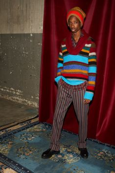The complete Missoni Fall 2018 Menswear fashion show now on Vogue Runway.