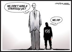 J.D. Crowe - Mobile Register - No Strategy Yet - Obama, ISIS, terror, United States, Iraq