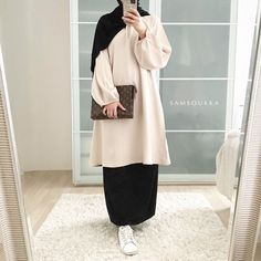 Muslim Fashion, Hijab Fashion, Fashion Dresses, Color Combinations For Clothes, Hijab Style, Fashion Colours, Pretty Dresses, Casual Outfits, Normcore