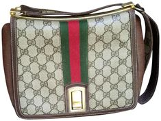 This is a beautiful vintage Gucci shoulder bag.in great shape.from the 70's or 80's  |  Tradesy is the leading used luxury fashion resale marketplace | 100% AUTHENTIC, OR YOUR MONEY BACK | We have a zero-tolerance policy for replicas. Our authentication rate is best in the industry (Stronger than eBay, ThreadUp, The RealReal, Poshmark, Vestiaire, and Worthy), our smart technology automatically detects and removes fakes listed on our site. If you don't feel confident about an item's authenticity, Gucci Shoulder Bag, Canvas Shoulder Bag, Leather Shoulder Bag, White Leather, Suede Leather, Vintage Gucci, Vintage Bags, Gucci Top, Gucci Crossbody