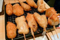 Kushiage   Recetas Japonesas en español! K Food, Asian Recipes, Ethnic Recipes, Japanese Food, Sushi, Carne, Salsa, Ideas, Gourmet