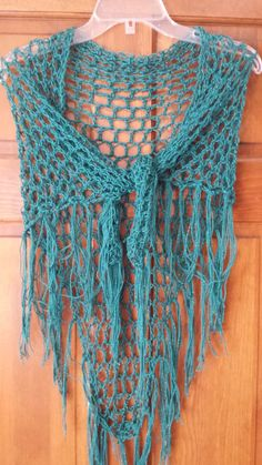 Hey, I found this really awesome Etsy listing at https://www.etsy.com/listing/189321342/crochet-scarf-shawl-triangle-fringe