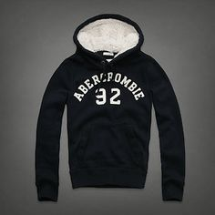 Abercrombie & Fitch Hollister Mens Stony Creek Hoodie Pullover Sz S Kids Muscle