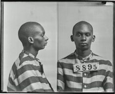 Photograph of Chris Hayes, No. 8895, Records of the Virginia Penitentiary, Series II. Prisoner Records, Subseries B. Photographs and Negatives, Box 119, Accession 41558, State Records Collection, Library of Virginia.