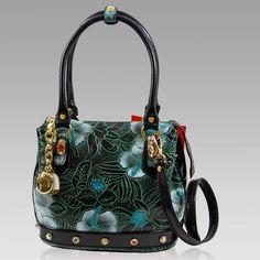 Leather Purses, Leather Crossbody, Purse Crossbody, Seafoam Green Color, Italian Handbags, Structured Bag, Leather Design, Signature Logo, Designer Handbags