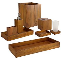 Taymor® Genuine Teak Bath Ensemble