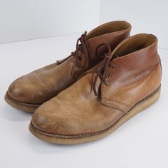 fc2efb4e8eca RED WING 595 Classic Chukka Heritage Leather Ankle Boots Brown Men s 10.5 E  wide  RedWing  AnkleBoots