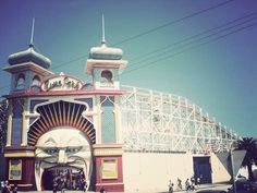 Luna Park in Melbourne, Australia Melbourne Australia, Melbourne Victoria, St Kilda, My Town, My Face Book, Roller Coaster, Travel With Kids, Places Ive Been, Aussies