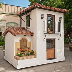 Kids design ideas, pictures, tags and decor - Kids Playhouse Ideas - Dog Houses, Play Houses, Petits Cottages, Casa Kids, Build A Playhouse, Backyard Playhouse, Tiny House Design, Spanish Style, Little Houses