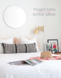 33 Expensive-Looking DIY Projects You Can Actually Make. Fringed boho pillow
