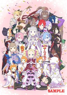 Japan Anime Re Zero kara Hajimeru Isekai Seikatsu Poster Wall Scroll Home Decor Re:Life in a different world from zero rem ram M Anime, Chica Anime Manga, Anime Sexy, Anime Art, Subaru, Beatrice Re Zero, Felix Argyle, Re Zero Wallpaper, Otaku