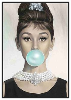 9.9AUD - Audrey Hepburn In Breakfast At Tiffany's Canvas Print Home Decor Wall Quality #ebay #Home & Garden