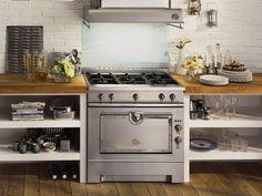 cucina a libera installazione in acciaio inox grand maman 90 by la cornue