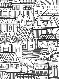 Towns apes coloring page : Vida Simples Cidade dos Sonhos