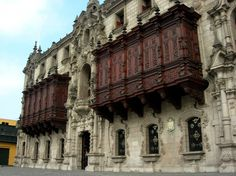 The Archbishop's Palace located in the Plaza de Armas in Lima looks like it was built in the 16th century, but don't let the Colonial Spanish architectural style fool you.  This site was actually built in the 1920s, but it was built to resemble the other historic buildings in Lima's town square.
