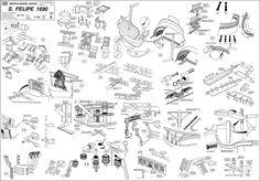 Quinze marins sur le bahut du mort...: Plan San Felipe 2ème partie Naval, Tall Ships, Sailing Ships, Vikings, Concept Art, Diy And Crafts, Photo Wall, How To Plan, Technical Drawings