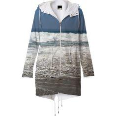 Malibu Waves Raincoat from Print All Over Me