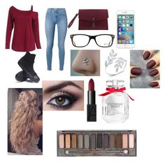 """""""Untitled #31"""" by daniellewada ❤ liked on Polyvore featuring Converse, Olive Cooper, Ray-Ban, NARS Cosmetics, Victoria's Secret, Urban Decay, women's clothing, women, female and woman"""