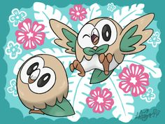 Rowlet! The new grass/flying-type starter from Pokemon Sun and Pokemon Moon in the Alola region.