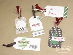 The Trim the Tree Designer Series Paper Stack is great for tag making! -Kaitlyn Zumbach