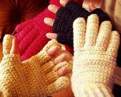Crochet gloves pattern, clear pattern, easy variations! Men and womens sizes too.Great 4 touch screen phones in winter