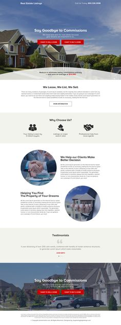 real estate listing call to action responsive landing page Real Estate Landing Pages, Best Landing Pages, Real Estate Website Design, Website Designs, Minimalist Web Design, Relaxing Holidays, Landing Page Design, Real Estate Investor, Web Design Inspiration