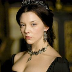18th Century Female at a Royal Court. Anne Boleyn from the BBC America production, The Tudors. Queen Anne has very pale skin with a rosie lip and cheek.