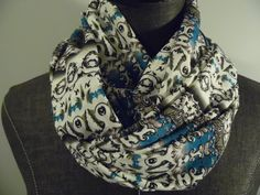 INFINITY Scarf. Turquoise.Grey/Taupe.Lavender.White.Black. Summer.Spring.Office wear. Scarves. Product ID# SC0056 by GamGamzhandcrafted on Etsy