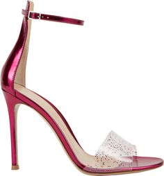 Gianvito Rossi Highback Anklestrap Sandals in Pink | Lyst