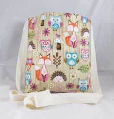Woodland Critters Fabric Tote Bag - Free UK P&P £11.00
