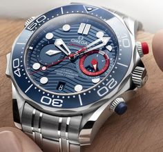*Blog Update - Read iN!* #Omega 44mm Seamaster Diver 300M America's Cup Chronograph⌚️Auckland 2021 Edition ⛵️🎉 with Steel Bracelet & Additional Rubber Strap!!🌊