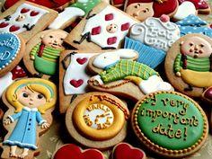 Alice in Wonderland Theme Cookies - Royal Icing main image