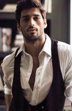image of Groom Clothing Ideas ♥ Dark Haired Bearded Handsome Men
