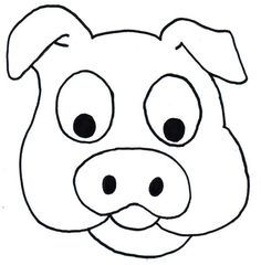 Pig Head Free Coloring Pages Printable