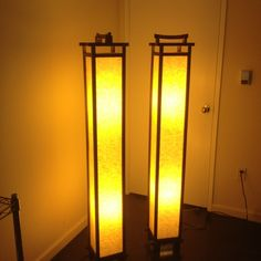 Japanese standing floor lamps.