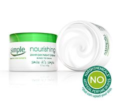 Simple Skincare Nourishing 24HR day/night cream moisturizes skin all day long and helps protect the skin. # target 10