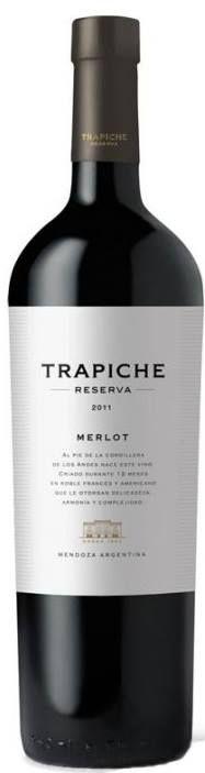 """""""Trapiche Reserva"""" Merlot 2012 - Bodega Trapiche, Maipú, Mendoza-------------------------------- Terroir: Cruz de Piedra (Maipú) & Agrelo (Luján de Cuyo) - Mendoza------------------------------- Crianza: 12 meses en barricas de roble francés y americano"""