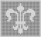 fluer de lis crochet patterns   Chart is shown here done as a filet crochet design (starting chains ...