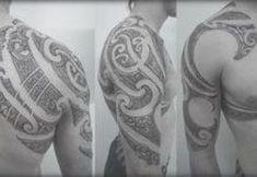 Custom New Zealand Maori Tattoo Designer Pacific Tribal Half Sleeve with Chest . - Custom New Zealand Maori Tattoo Designer Pacific Tribal Half Sleeve with Chest … – Maori tattoos -