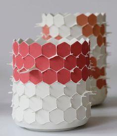 "382 Likes, 19 Comments - Joris Link (@joris_link) on Instagram: ""#hex #cilinder #ceramics #art #porcelain #slipcasting #mold #moldmaking #redandwhite #roodwit…"""