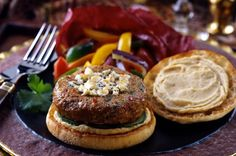 Tunisian Turkey Burgers with Chick Pea Mayonnaise Turkey Burgers, Salmon Burgers, Bays English Muffins, Sandwich Melts, English Muffin Recipes, Mayonnaise, Family Meals, Poultry, Great Recipes