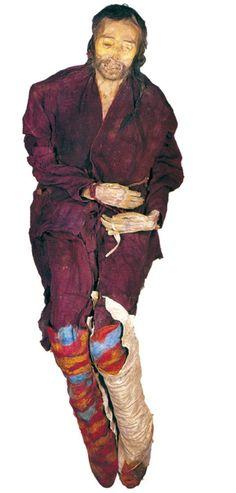 Tian Chen mummy, Tian Shan, north-western China.