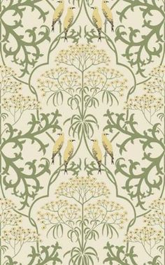Wallpaper patterns produced in true document scale and color by hand silk screening and new digital technology. Wallpaper patterns produced in true document scale and color by hand silk screening and new digital technology. Art Nouveau, Art Deco, Motifs Textiles, Textile Patterns, Print Patterns, William Morris, Fabric Wallpaper, Pattern Wallpaper, Antique Wallpaper