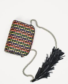 Image 7 of MULTICOLORED BRAIDED CROSSBODY BAG from Zara