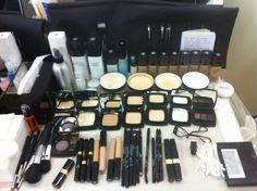 My Chanel kit.  Can't live without the brow kit and the loose powder. And the brushes!