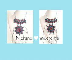 necklace macrame Italia morenamacrame