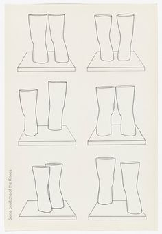 Untitled (Some Positions of the Knees) from London Knees published Photolithograph. sheet: 15 x 10 x Gift of Mr. London Knees Drawings and Prints Claes Oldenburg, Art Academy, Postmodernism, Moma, Contemporary Art, Positivity, London, Drawings, Prints