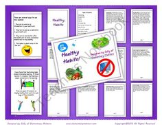 Teachers Notebook Healthy Habits Booklet for Illustrating $ www.greennutrilabs.com